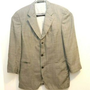 Hugo Boss Mens Suit Jacket Sport Coat Grey SZ 42R